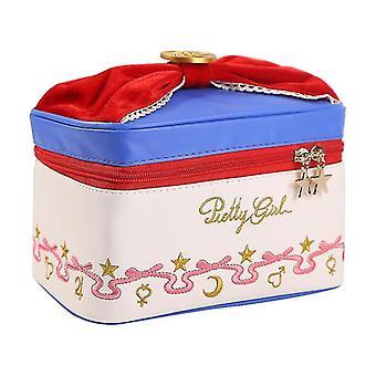 Japonais Sailor Moon Le même sac cosmétique portable sac de toilette cosmétique de grande capacité de stockage