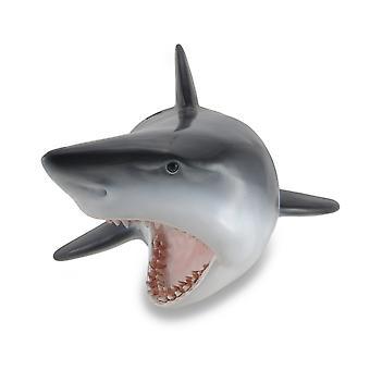 Great White Shark Head Wall Mount Trophy Sculpture