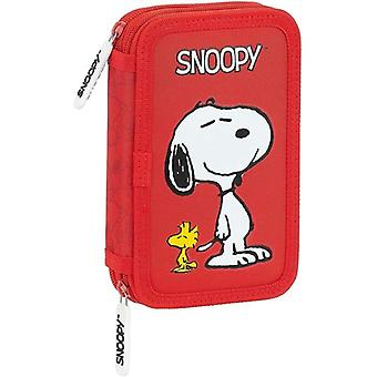 Double Pencil Case Snoopy Red (28 pcs)