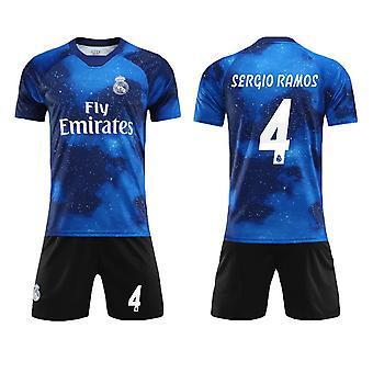 Sergio Ramos #4 Jersey Real Madrid CF Fly Emirates Fotboll T-Shirts Jersey Set för barnungdomar