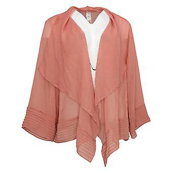 WynneLayers Women's Sweater Yoryu Pleat Detail Cardigan Pink 741399