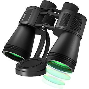 Бинокль 20 x 50 с ночным видением, HD профессиональный бинокль Компактный водонепроницаемый с призмой BAK4, надежный бинокль FMC для наблюдения за птицами, путешествий, спорта, охоты, походов, (черный)
