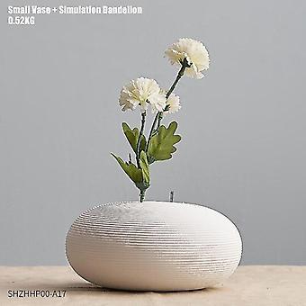 Keramikvaser i nordisk stil med blomkombinationer(kombination 6)