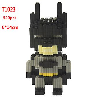 Batman Children's Educational Development Intellectual Toy Plastic Diamond Small Particle Building Block 3d Assembly Model