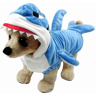 Lustige Hunde Katzenhai Kostüme, Halloween Weihnachten Cosplay, Tier Warme Outfits Kleidung