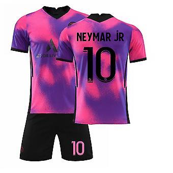 Neymar Jr #10 Jersey Home 2021-2022 Nieuw seizoen Heren Parijs Voetbal T-shirts Jersey Set