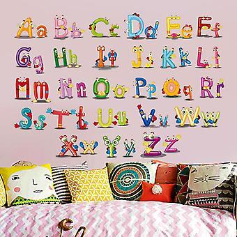 Vroeg onderwijs leren Engels alfabet stickers slaapkamer muur sticker