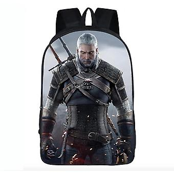 Witcher Wild Hunt Geralt Of Rivia School Backpack Casual Style