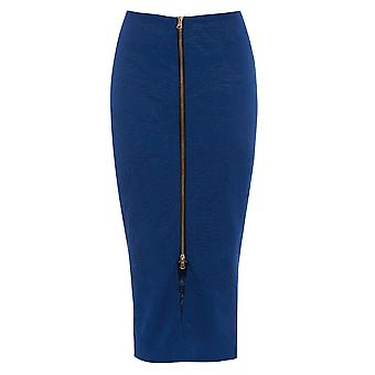Get THe Look Embossed Front Zip Skirt