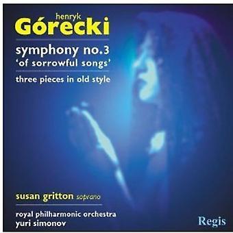 H. Gorecki - G Recki: Sinfonía nº 3; Tres piezas en estilo antiguo [CD] USA importar
