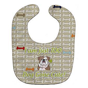 Carolines trésors BB5788BIB trop mignon Bulldog anglais Baby Bib