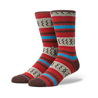 Stance Mexicali Rose Crew Socks in Red