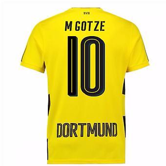 2017-18 casa de Borussia Dortmund camiseta de manga corta (Gotze M 10)