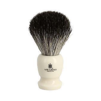 Vie-Long Badger Hair Brush and Stand Cream
