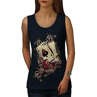 Gamble Poker Player Women NavyTank Top | Wellcoda