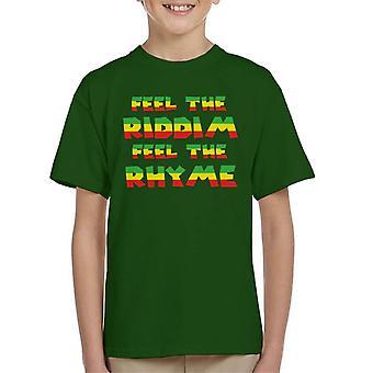 Cool Runnings tuntuu Riddim tuntuu riimi Lasten t-paita
