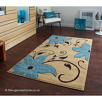 Menia Beige blauw tapijt