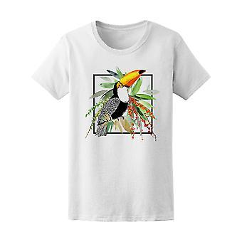 Toucan trooppisia eksoottisia lintu Tee Women-kuva: Shutterstock