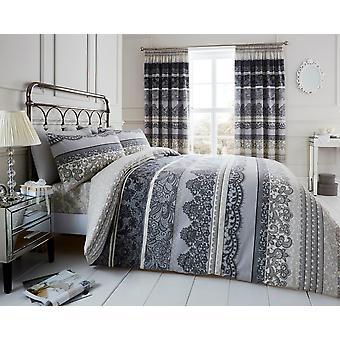 Reverie strepen gedrukte Dekbedovertrek quilt cover beddengoed instellen kussensloop