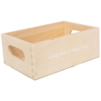 Bigjigs Toys Wooden Play Food Crate Kitchen Accessories Kids Toddler Child