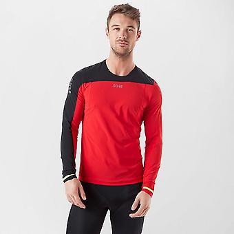 New Gore Men's R7 Trail Running Long Sleeve Shirt Red/Blue