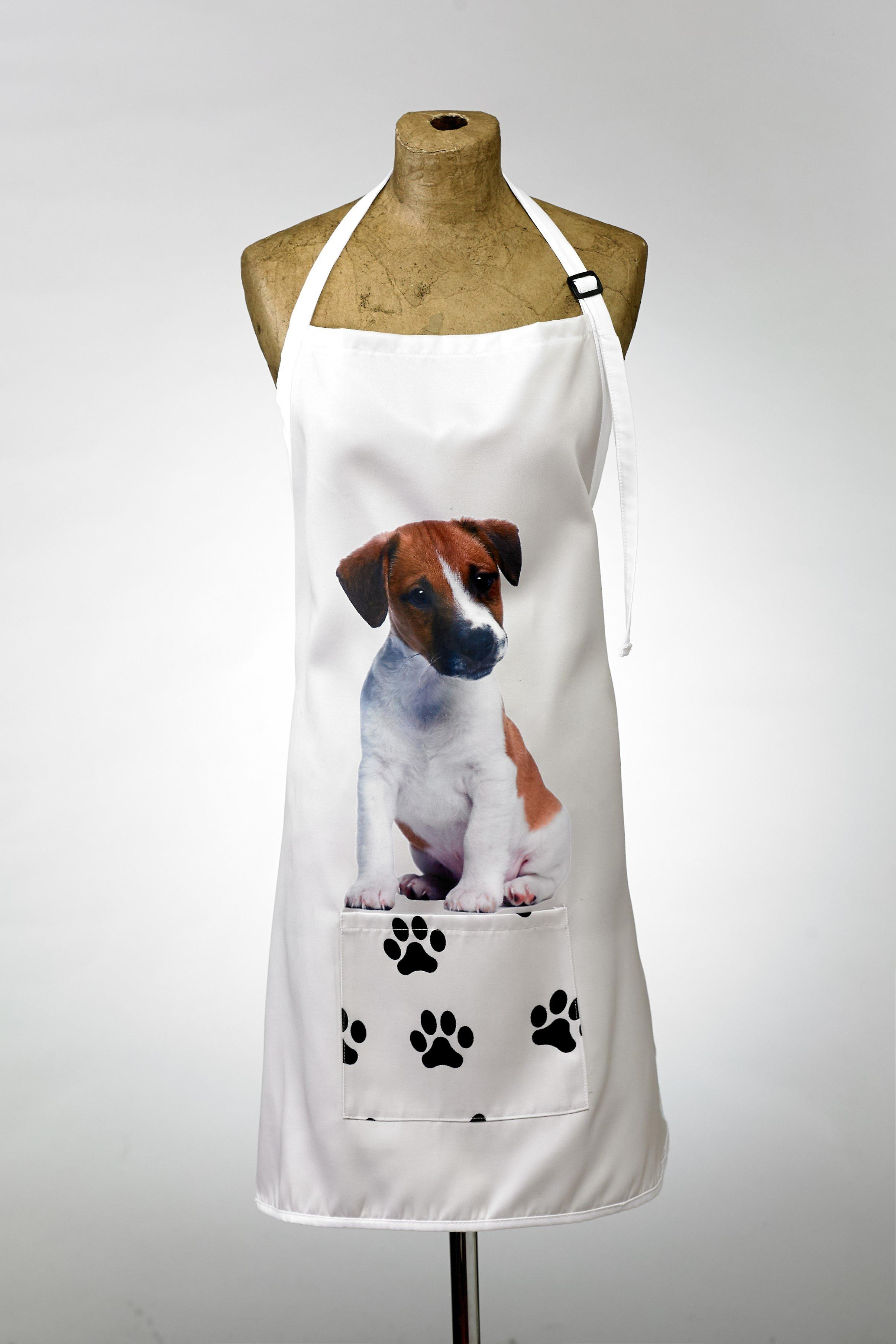 Adorable jack russell design apron