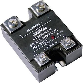 Kudom SSR KSI240 D60 LM Current load (max.): 60 A Switching voltage (max.): 280 V AC Zero crossing 1 pc(s)