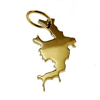 Trailer map BORA BORA massively 585 yellow gold pendants