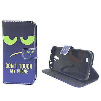 自分の携帯電話のグリーンに手を触れないでください電話サムスンギャラクシー S4 の携帯電話ケース ポーチ