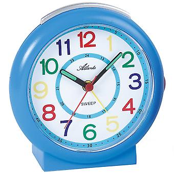 Atlanta 1917/5 alarm clock kids alarm clock blue colorful quiet quartz alarm clock for kids