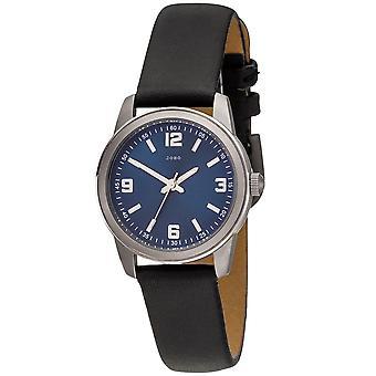 JOBO ladies wrist watch quartz analog titanium leather strap Black Womens watch