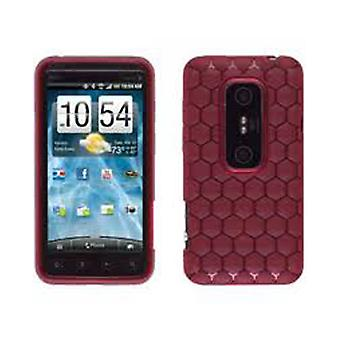 Ventev Honeycomb Dura-Gel Case for HTC EVO 3D (Red)