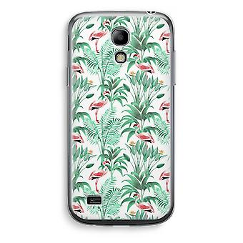 Samsung Galaxy S4 Mini Transparent Case (Soft) - Flamingo leaves