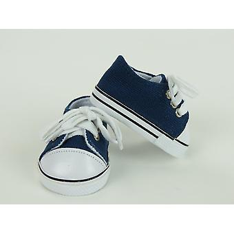 "18"" Doll Clothing Low Top Sneakers, Navy"