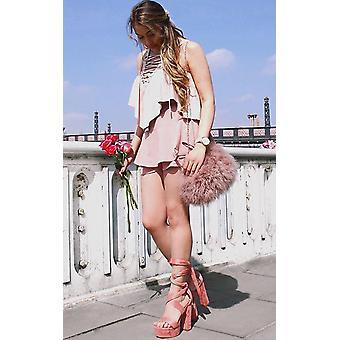 IKRUSH Womens Binx hohen Plattform Lace Up Heels