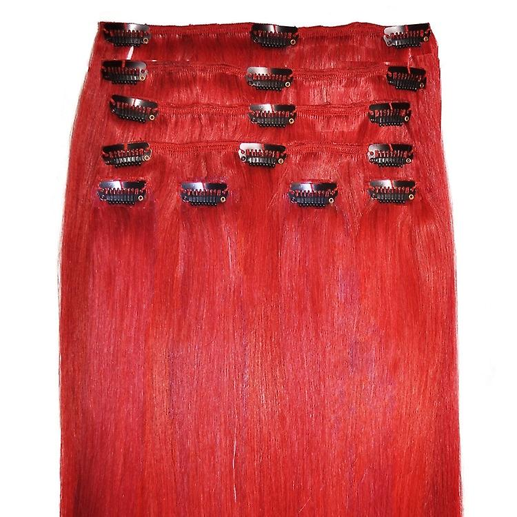 Rouge - Clip in Hair Extensions - 18 pouces - Bright couleurs