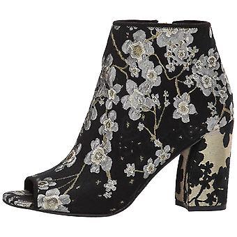Nove mulheres ocidental Haywood tecido Peep Toe moda botins