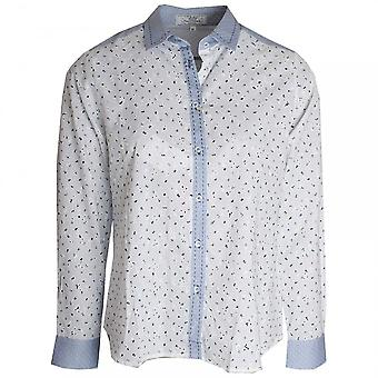 Vlt's By Valentina's Printed Broderie Anglaise Shirt