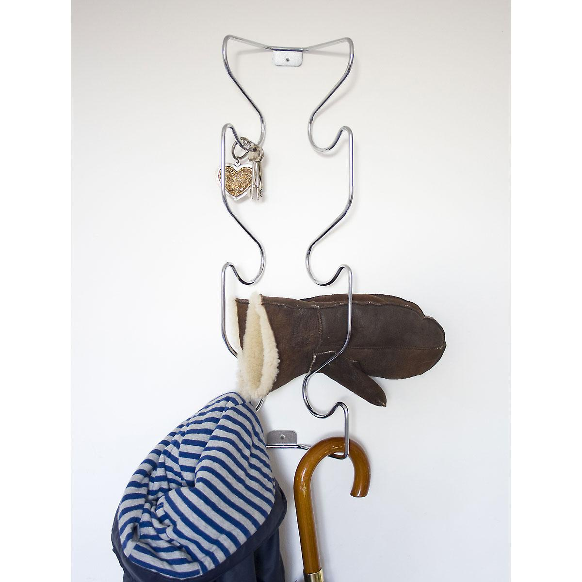 Chrome Wave Wire Coat Rack by J-Me