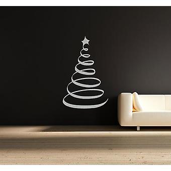 دوامة شجرة عيد الميلاد الجدار نافذة متجر ملصقا