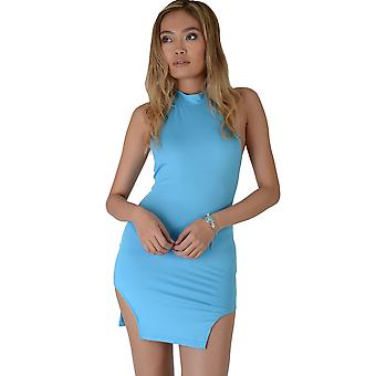 Lovemystyle Electric Blue Bodycon jurk met uitgesneden Zoomlijn