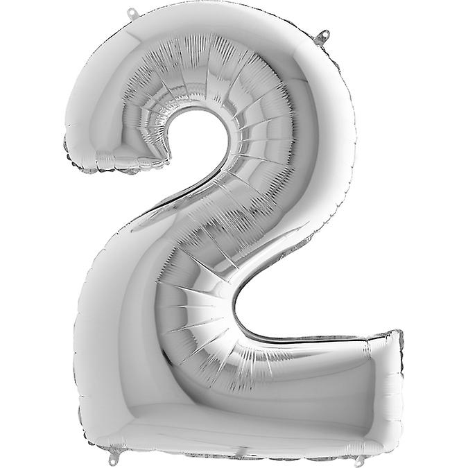 2019 sifferballonger Silver 41 cm (16