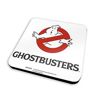 Ghostbusters coasters set logo set of 6 white, printed, coated, made of Cork.