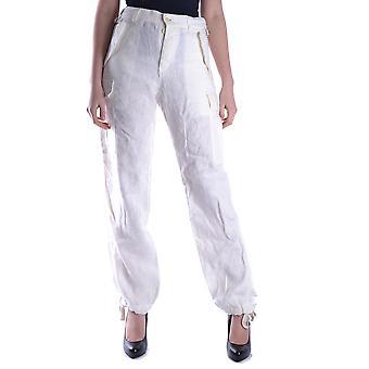 Yohji Yamamoto Ezbc106007 Women's Beige Cotton Pants