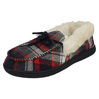 Ladies Cushion Walk Warm Lined Full Slippers Mary