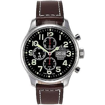 Zeno-Watch Herrenuhr OS Pilot Chronograph red 8557TVDD-pol-a1