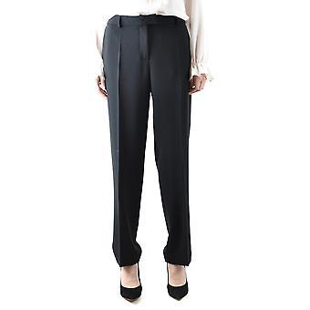 Boutique Moschino Ezbc170013 Women's Black Acetate Pants