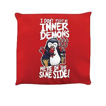 Psycho Penguin Inner Demons Cushion