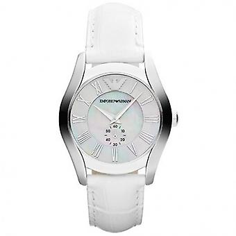 Emporio Armani Ar1669 Leather White Womens Watch