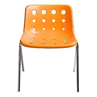 Loft Robin Day 4 Leg Bright Orange Plastic Polo Chair